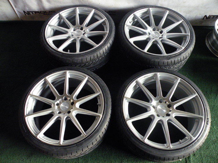 """21"""" Niche Essen Wheels Silver BMW 5 Series 528 535 550 M5 F10 F11 Hankook Tires"""