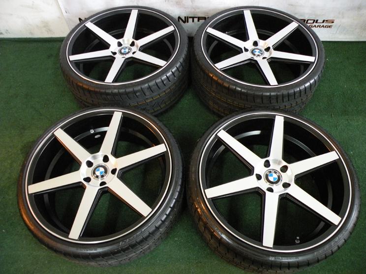"22"" Machined Black Wheels for BMW 6 Series 645CI 650i M6 E63 E64 2004 2010 Tires"