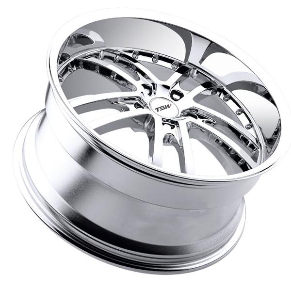 "20"" TSW Cadwell Wheels Chrome BMW 7 Series 740 750 760 F01 F01 Staggered Lip"