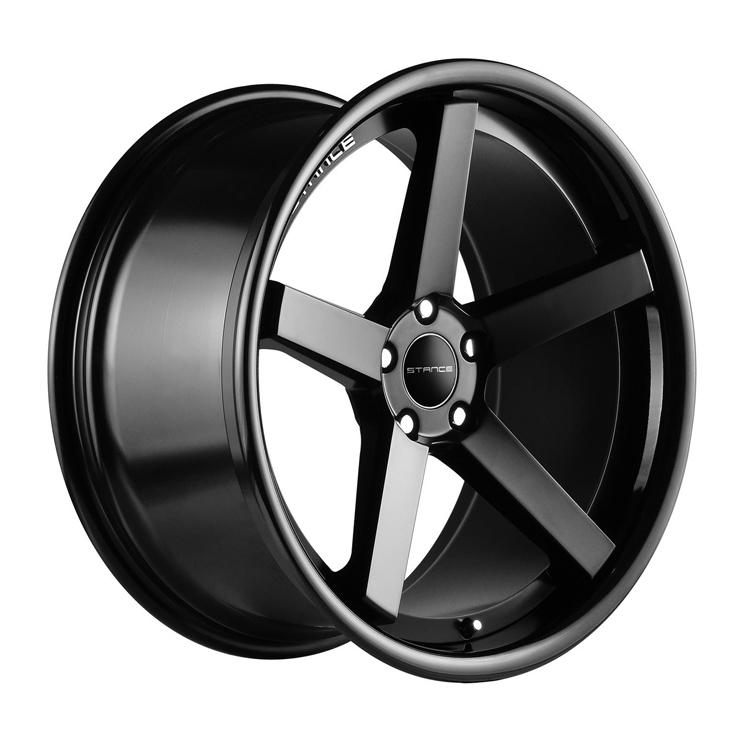 """19"""" Stance SC 5IVE Wheels Matte Black Mercedes C Class C250 C300 C350 C63 AMG"""