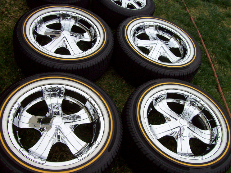 20 Verde Chrome Wheels Vogue Tires Cadillac Escalade Chevy Tahoe