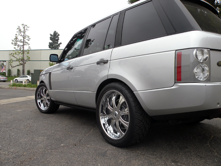 "22"" asanti Chrome Wheels Range Land Rover HSE HST Sport LR3 Tires"